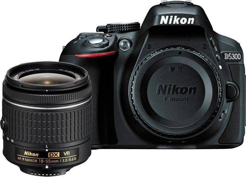 Nikon D5300 DSLR Camera Body with Single Lens: AF-P DX...