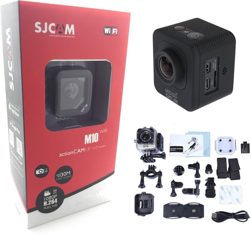 Sjcam M10 Wifi Mini Cube Wide-Angle 170 degree Cam-1.5 Inch Ultra HD Display Waterproof 12MP 1080p HD Camcorder-Car Dash 170 Degree HD wide-angle lens Sports & Action Camera(Black) image