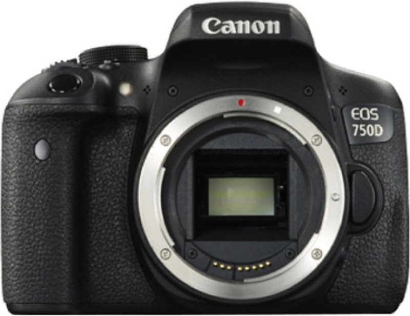Canon EOS 750D DSLR Camera (Body Only) (8 GB SD Card + Camera Bag)(Black)