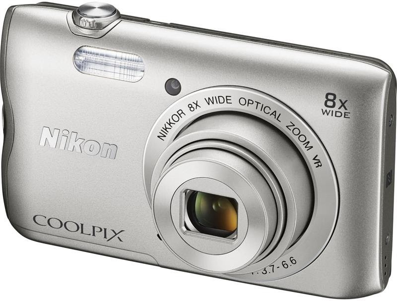 Nikon Coolpix A300 Point & Shoot Camera(Silver) image