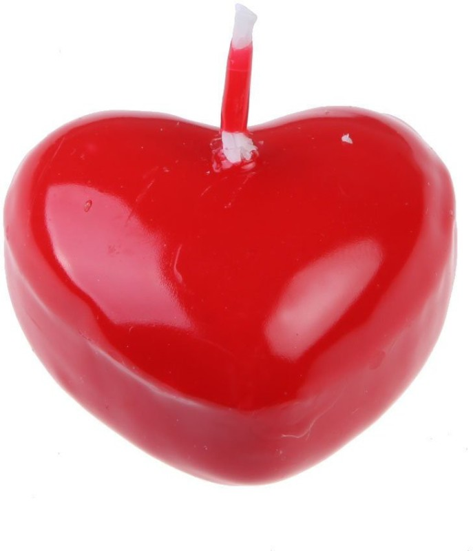 Futaba Romantic Red Heart Shape Candle(Red, Pack of 1)