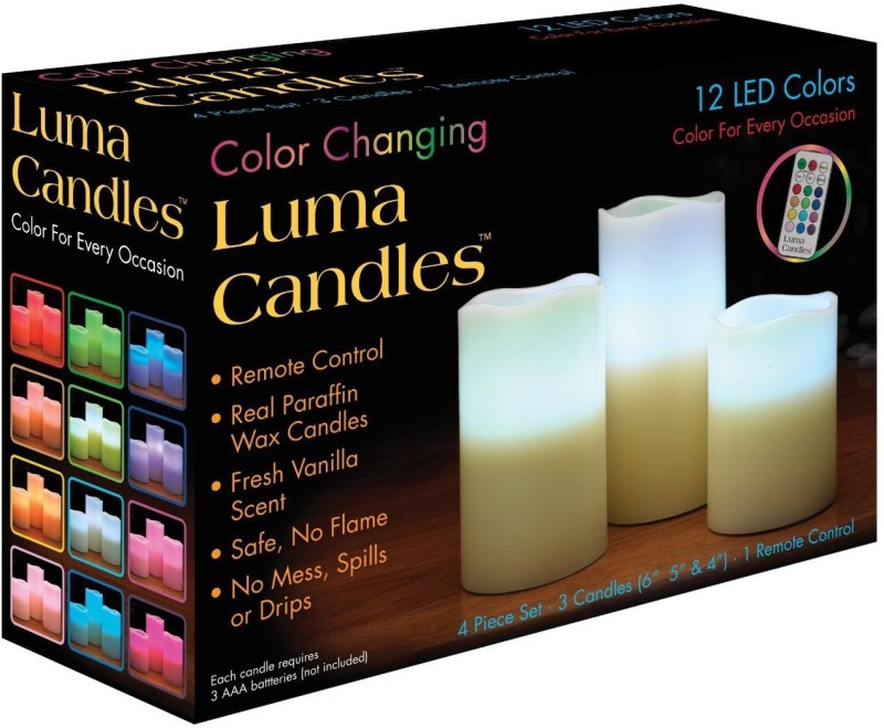 Luma Candles LED LC Candle(White, Pack of 3)