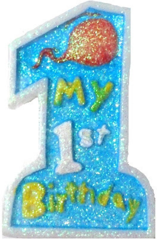 Tiger My 1st Birthday Candle(Blue, Pack of 1)