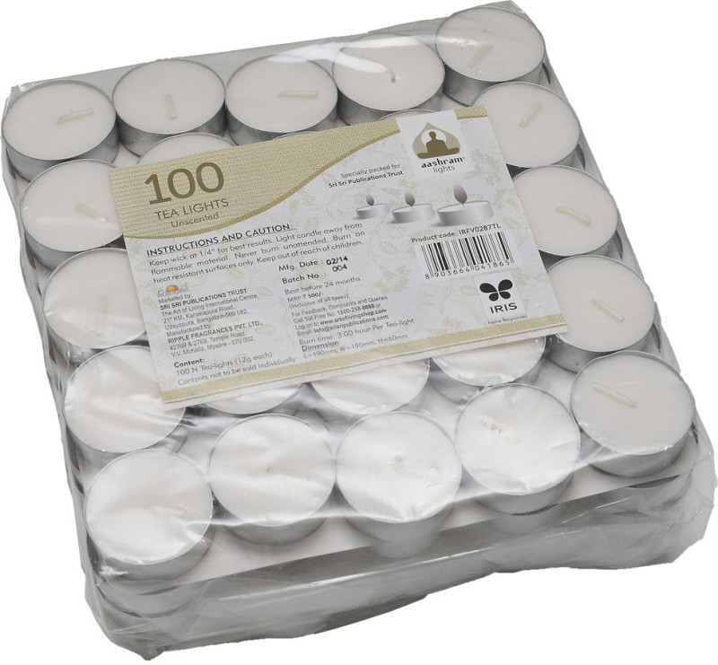 HPD Tea Lights Candle(White, Pack of 100)