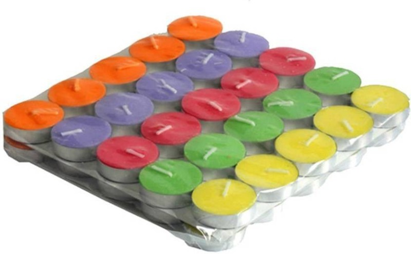 Skycandle in tea light Candle(Multicolor, Pack of 50)