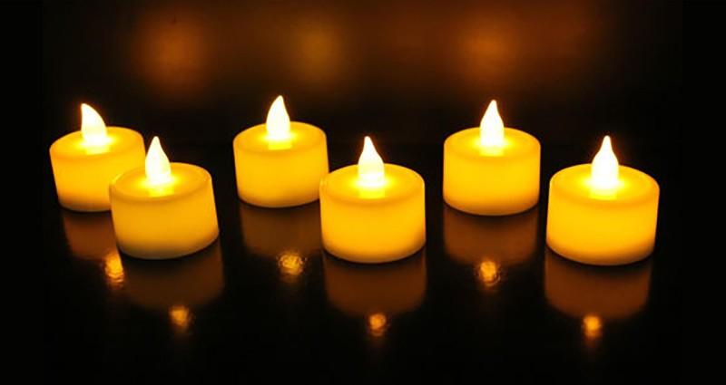 Goyal LED Flickering Yellow Tealight Diya Candle(White, Pack of 6)