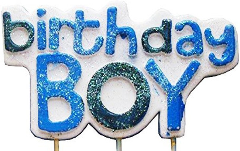NxtGen Glitter Birthday Boy Candle(Multicolor, Pack of 1)