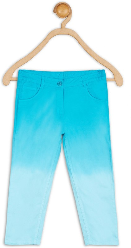 612 League Capri For Girls Solid Cotton(Blue)