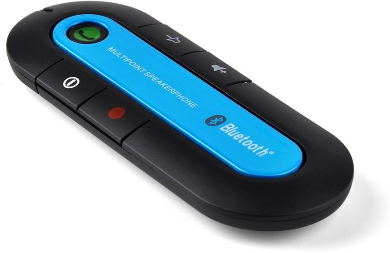 Shrih v4.1 Car Bluetooth Device with FM Transmitter(Black Blue)