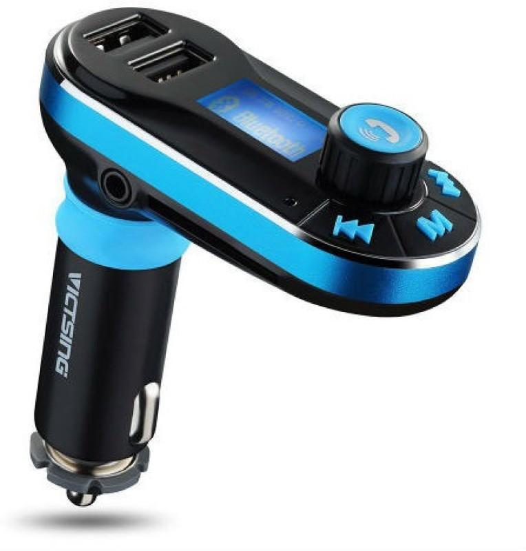 Shrih v2.1+EDR Car Bluetooth Device with FM Transmitter(Black & Blue)