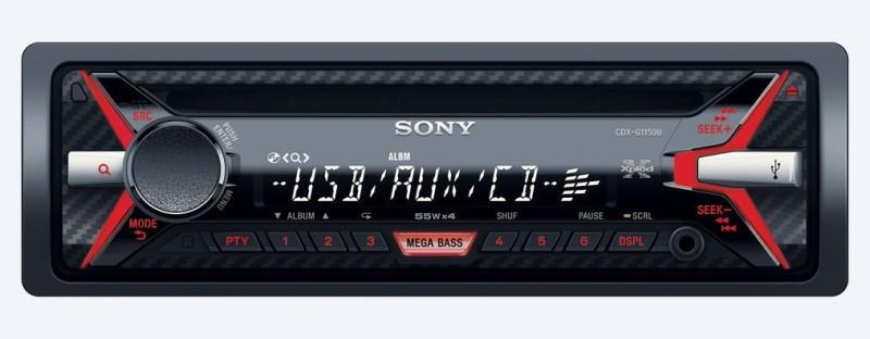 Sony Xplod CDX-G1150U Car Stereo(Single Din)