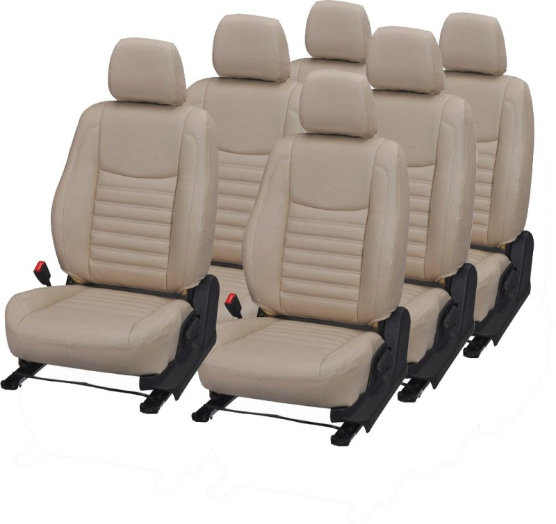 Pegasus Premium PU Leather Car Seat Cover For Toyota Innova(Detachable Head Rest, Mono Back Seat, With Back Seat Arm Rest, 7 Seater, 2 Back Seat Head Rests)