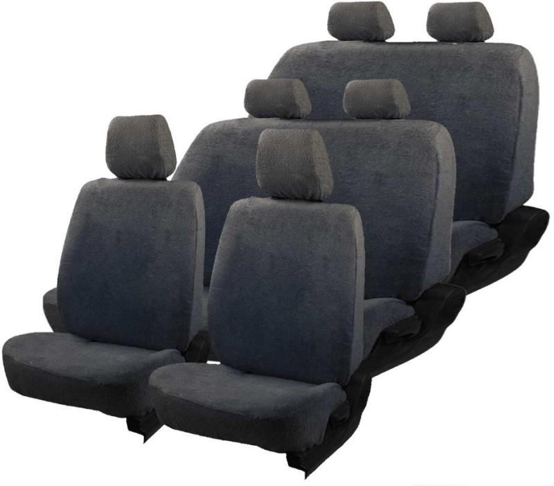 Allure Auto Cotton Car Seat Cover For Chevrolet Tavera(Front Detachable Headrest, Mono Back Seat, 8 Seater, 3 Back Seat Head Rests)