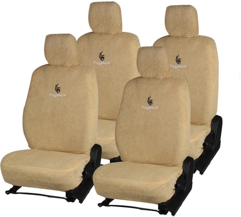 Pegasus Premium Cotton Car Seat Cover For Honda Jazz(Detachable Head Rest, Mono Back Seat, Without Back Seat Arm Rest, 5 Seater, 2 Back Seat Head Rests)