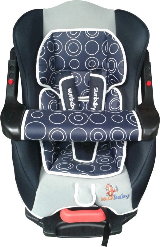 Sunbaby Forward Facing Inspire Car Seat with Bumper(Black with Multicolor)