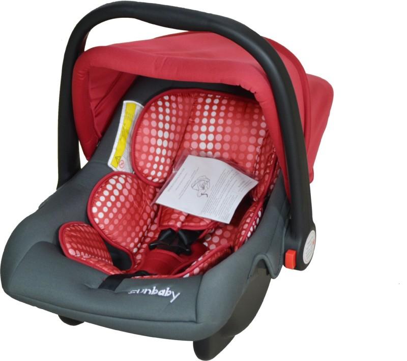 Sunbaby Rearward Facing Carry Cot Cum Car Seat(Red)