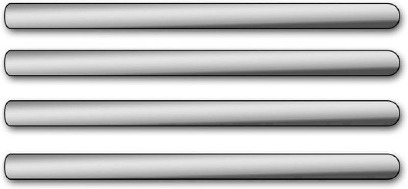 Allure Auto sur-55910 Car Side Beading(Silver)