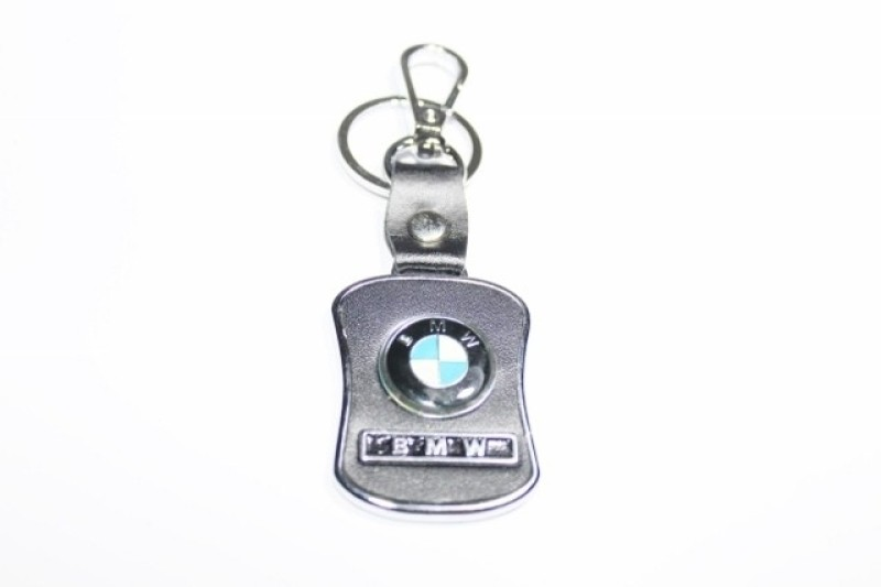 Hiyaa BMW Leather Metal Locking Key Chain(Silver)