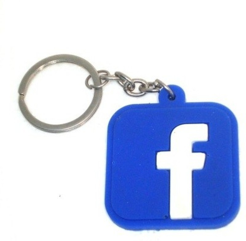 TAG3 High Quality Facebook FB Logo Silicon For Car Bike Key Chain(Blue)