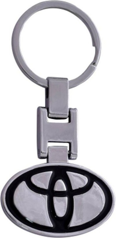 Aditya Traders Classy Toyota Fine Metal Attractive Designer Key Chain(Silver)