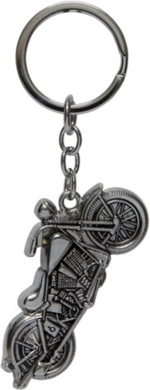 Trendy Loot Sports Motorcycle Key Chain(Silver)