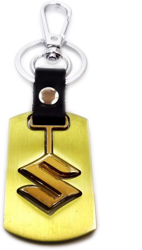 Aditya Traders Classy Suzuki Car Attractive Designer metal Locking Key Chain(Gold)