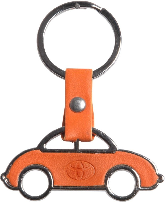 Oyedeal Car Shape Toyota Key Chain(Orange)