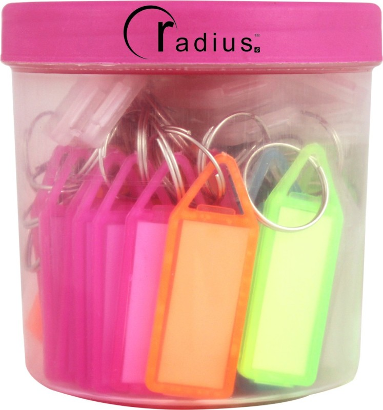 Radius Assorted Key Tags Key Chain(Multicolor)