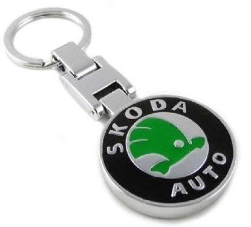 Aditya Traders GLOSSY SKODA ORIGINAL METAL ATTRACTIVE CAR Locking Key Chain(Silver)