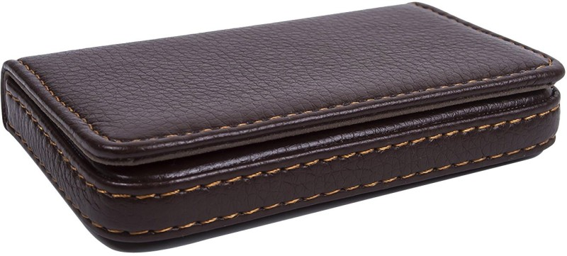 Evana 20 Card Holder(Set of 1, Brown)