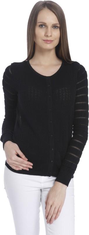 Vero Moda Womens Button Solid Cardigan