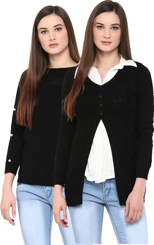 Skidlers Womens Button, No Closure Cardigan