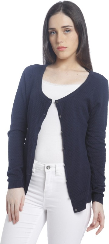 Vero Moda Womens Button Solid Cardigan