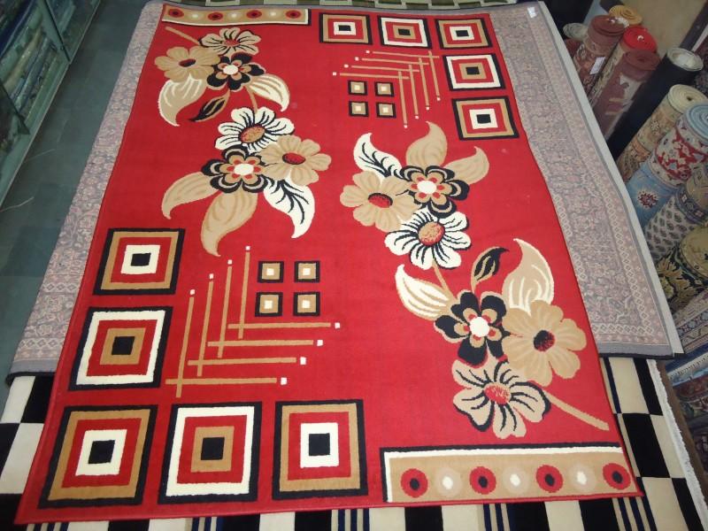 I.C Multicolor Synthetic Carpet(152 cm  X 204 cm)