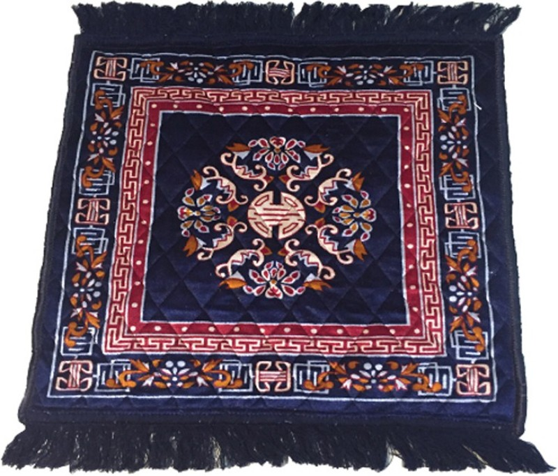 AAZEEM Blue Polyester Carpet(55 cm X 60 cm)