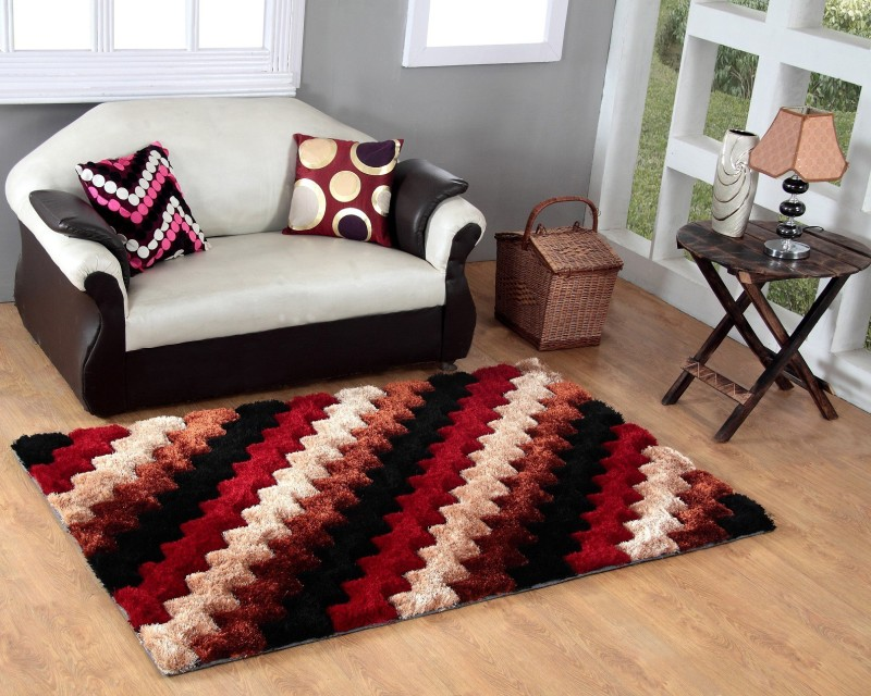 Excel Bazaar Maroon Polyester Carpet(120 cm  X 180 cm)