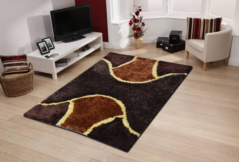 Abhi Decor Multicolor Cotton Polyester Blend Carpet(121 cm X 182 cm)