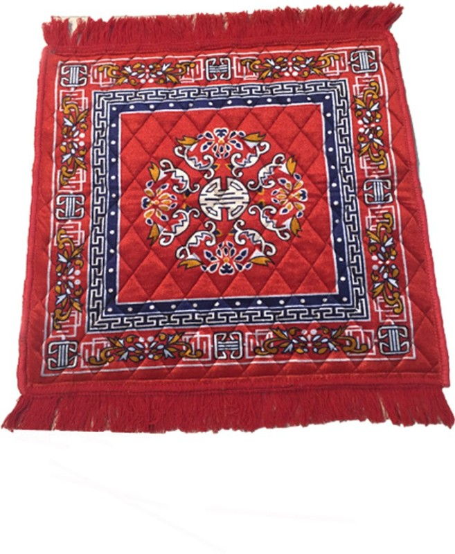 AAZEEM Red Polyester Carpet(55 cm X 60 cm)