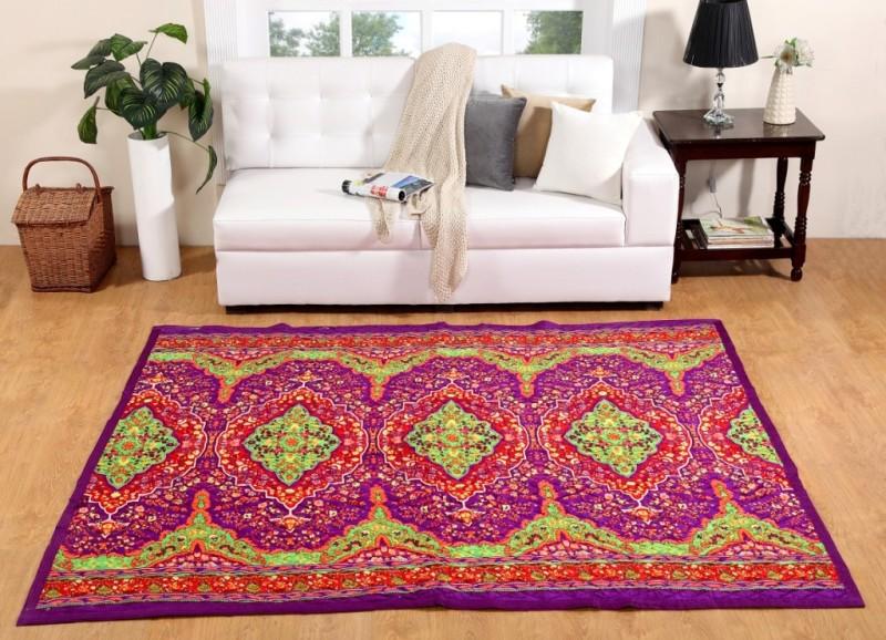 ABC Multicolor Polyester Carpet(180 cm X 212 cm)