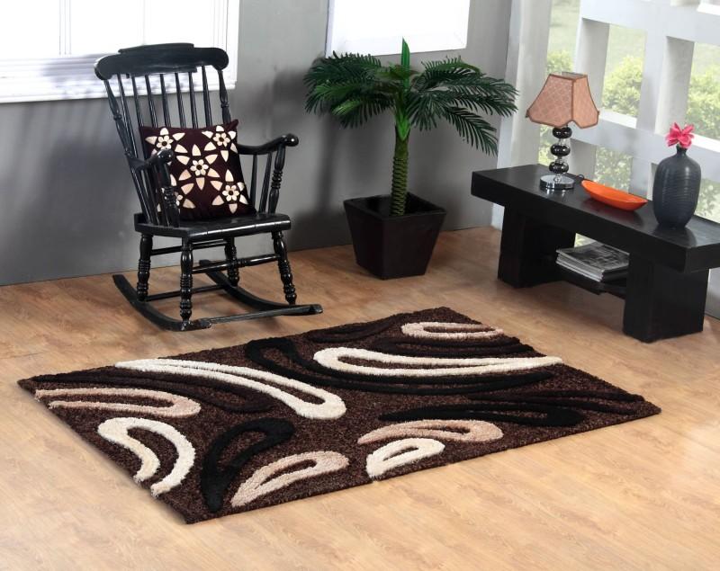 Excel Bazaar Brown Polyester Carpet(120 cm  X 180 cm)