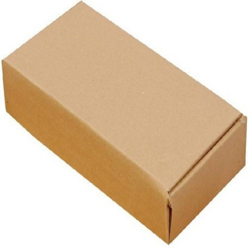 JSK Corrugated Craft Paper Packaging Box(Pack of 100 Brown)
