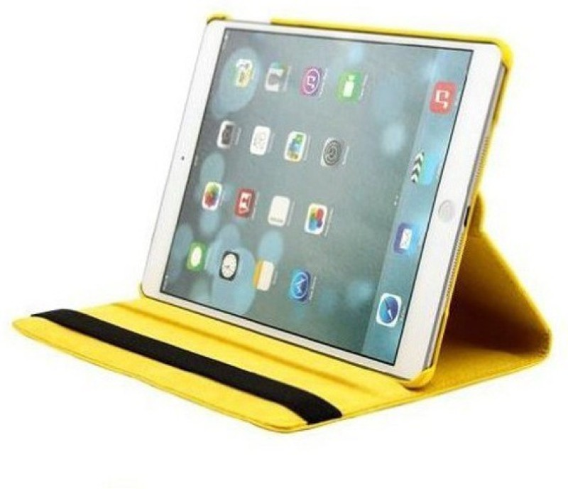 TGK Book Cover for Samsung Galaxy Tab E 9.6 inch SM-T560, T561, T565, T567V Rotating Leather Smart Flip Case(Yellow, Cases with Holder)