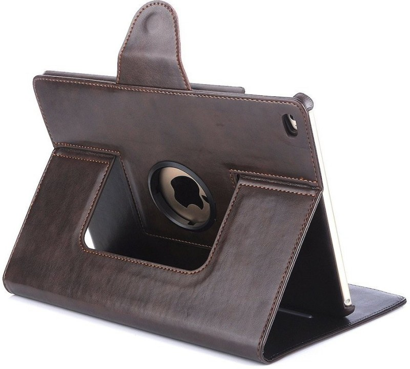 Bracevor Book Cover for Apple iPad Air 2(6th gen)(Executive Brown, Leather)