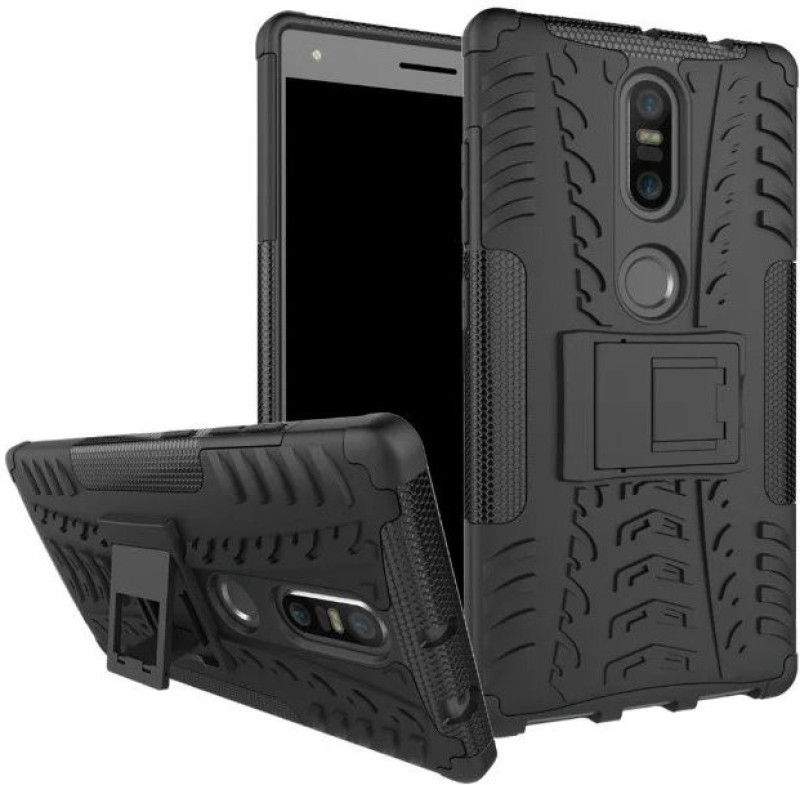 KartV Back Cover for Lenovo Phab 2 Plus(Armor Black, Shock Proof, Rubber, Plastic)