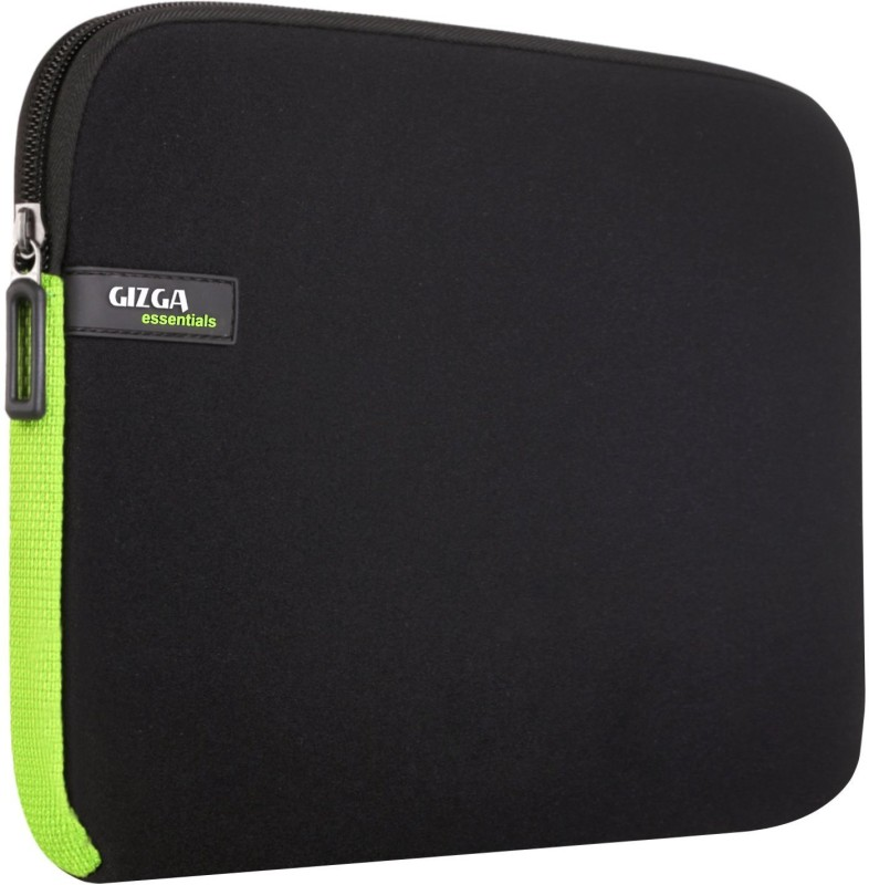 Gizga Essentials GE-15-BLK-GRN Laptop Sleeve/Cover(Green, 1)