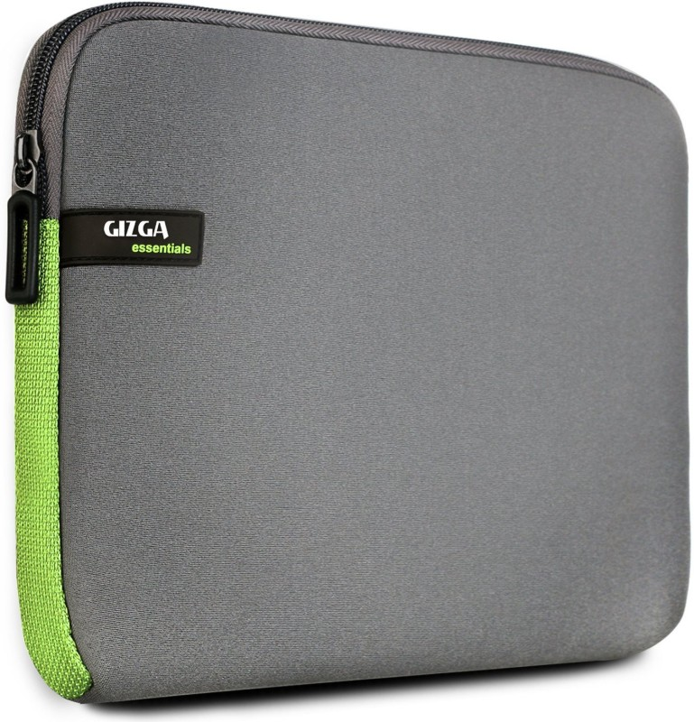Gizga Essentials GE-15-GRY-GRN Laptop Sleeve/Cover(Green, 1)