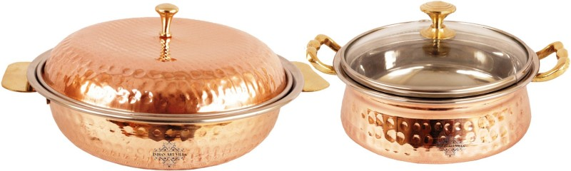 IndianArtVilla Pack of 2 Casserole Set(1250 ml)