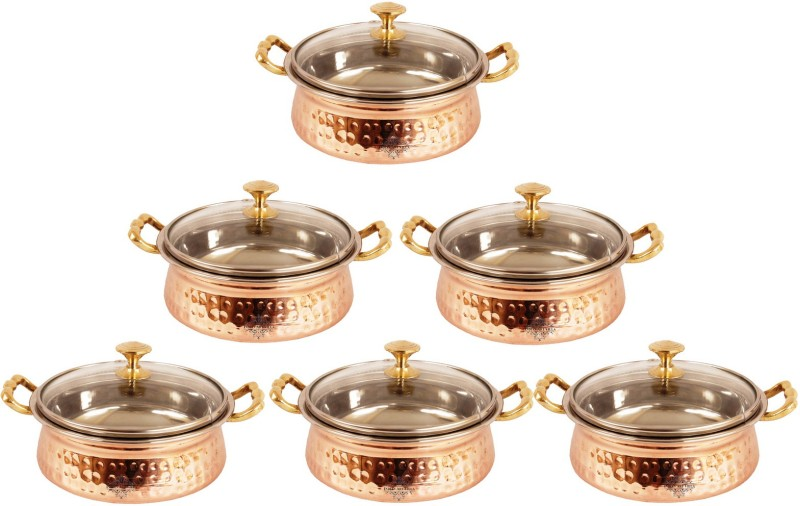 IndianArtVilla Pack of 6 Casserole Set(3 L)