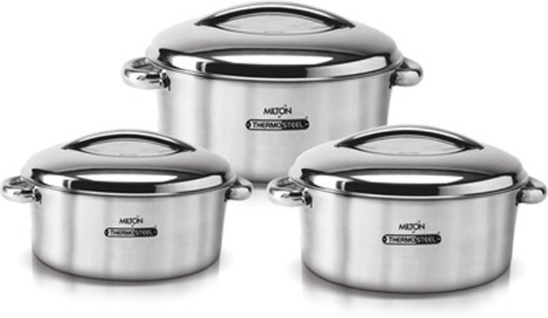 Milton Pack of 3 Serve Casserole Set(4 L, 0.85 L, 1.42 L)