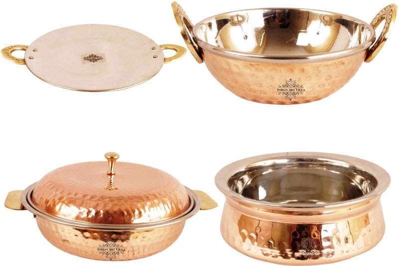 IndianArtVilla Pack of 4 Casserole Set(1500 ml)